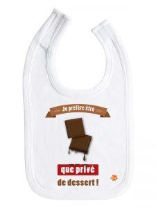 Bavoir Chocolat