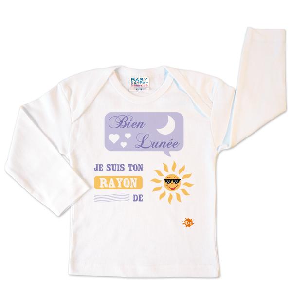 T-shirt blanc Bien lunée