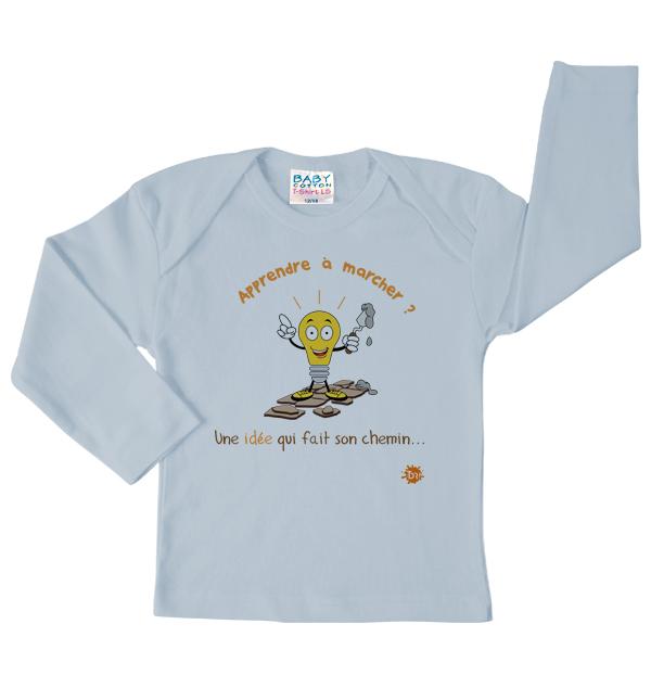 Tshirt bleu Apprendre à marcher