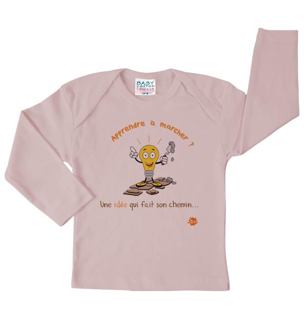 Tshirt rose Apprendre à marcher