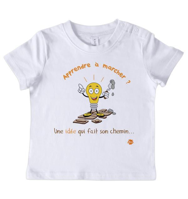 T-shirt manches courtes Apprendre à marcher