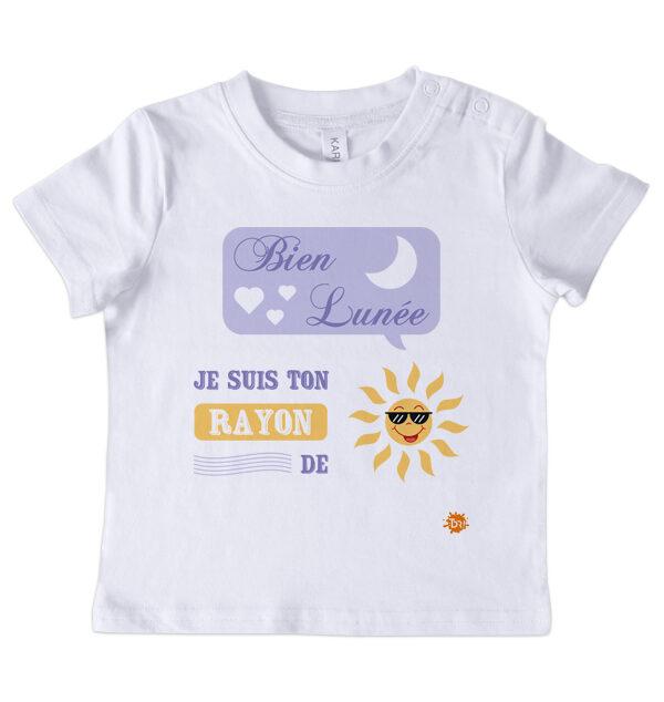T-shirt manches courtes Bien lunée
