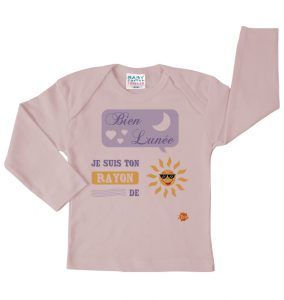 T-shirt rose Bien lunée